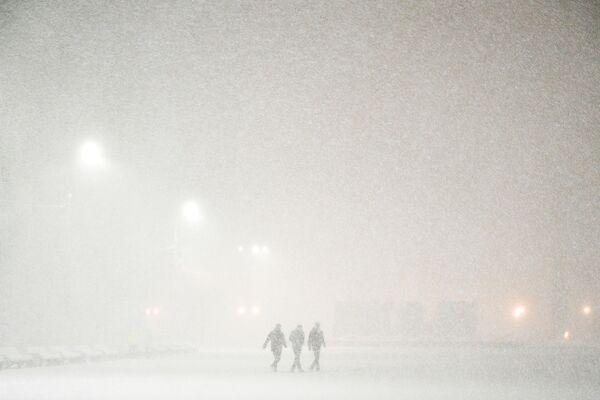 Opady śniegu w Podolsku - Sputnik Polska