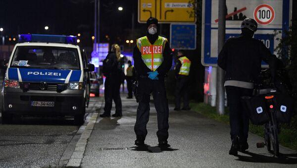 Policja na granicy Niemiec - Sputnik Polska