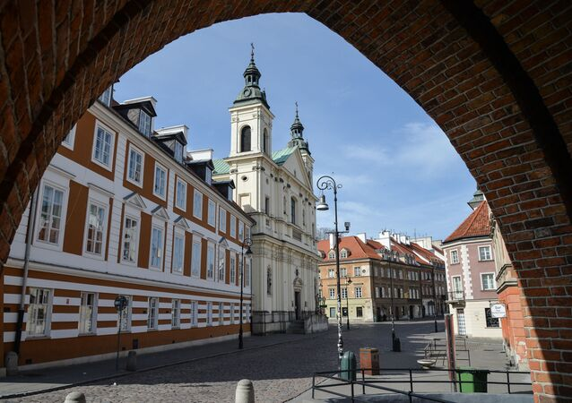 Pusty centrum Warszawy