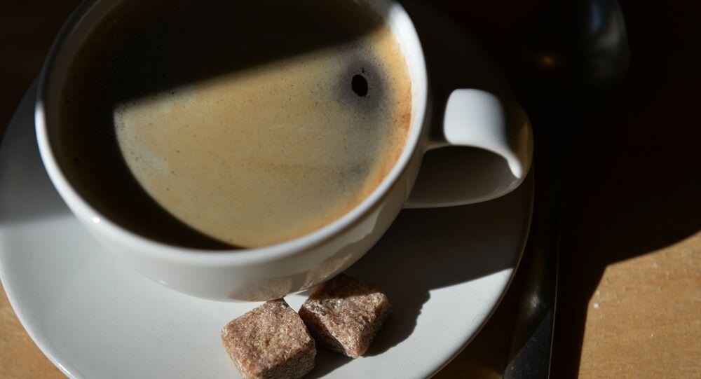 Filiżanka kawy i cukier