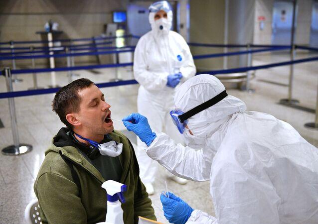 Kontrola sanitarna na lotnisku