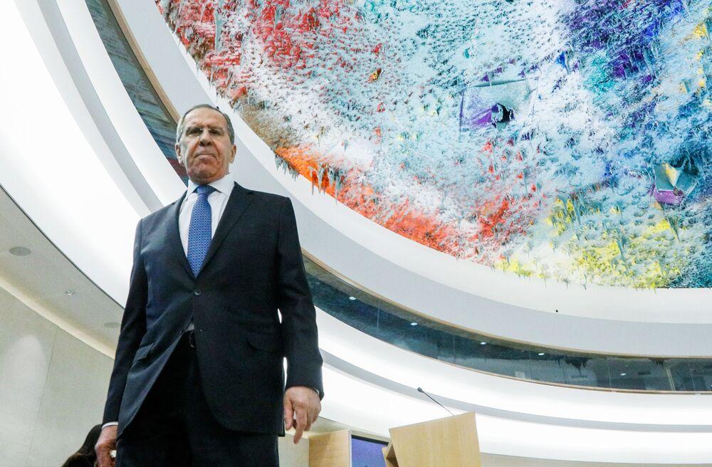 Siergiej Ławrow na sesji Rady Praw Człowieka ONZ