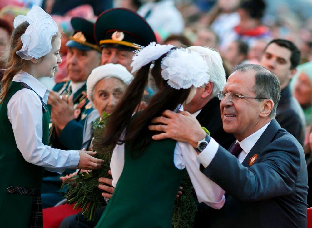 Siergiej Ławrow na koncercie dla weteranów Wielkiej Wojny Ojczyźnianej
