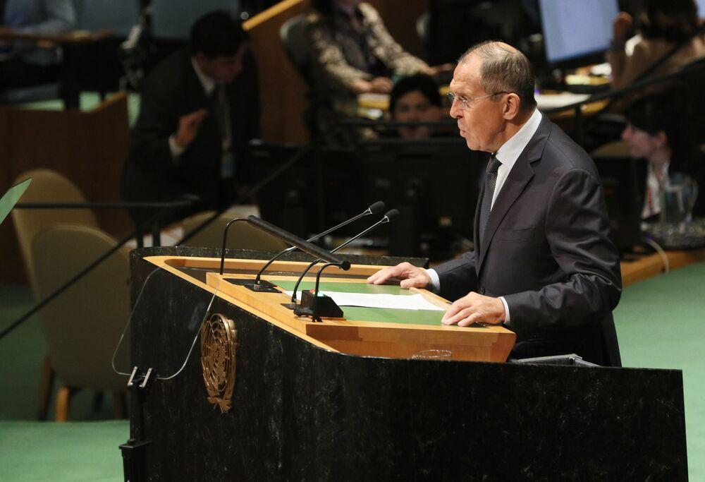 Siergiej Ławrow na szczycie ONZ