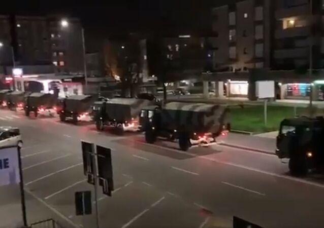 Transport trumien z ciałami ofiar koronawirusa z Bergamo