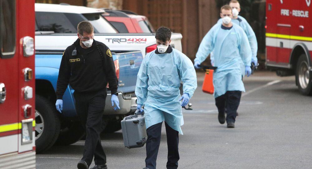 Personel medyczny w amerykańskim mieście Kirkland