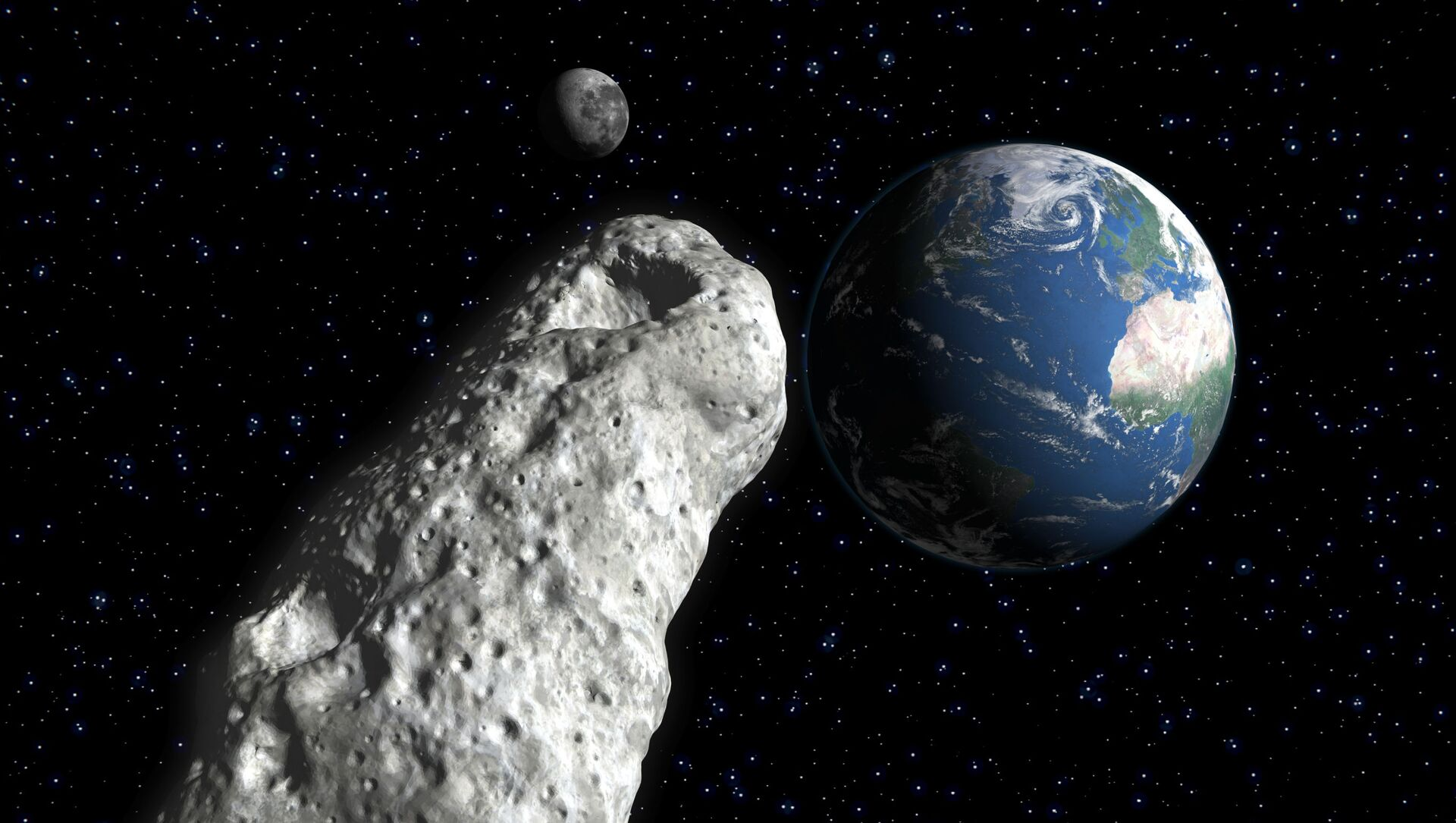 Asteroida zbliża się do Ziemi. - Sputnik Polska, 1920, 01.05.2021