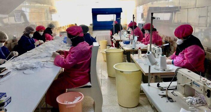 Produkcja masek ochronnych na twarz, Iran