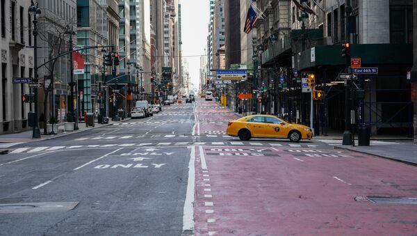 Taksówka na ulicy w Nowym Jorku - Sputnik Polska