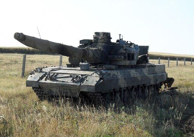 """Jeden z prototypów czołgu T-95 (""""Obiekt 195"""")"""