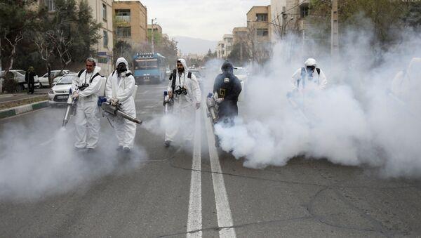 Dezynfekcja ulic w Teheranie, Iran - Sputnik Polska