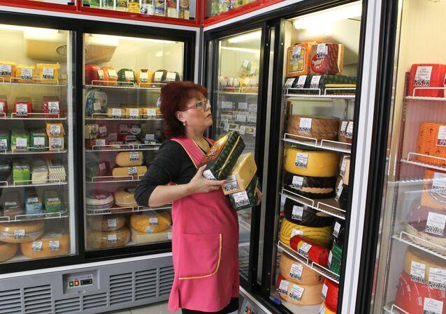 Produkty spożywcze w lodówkach