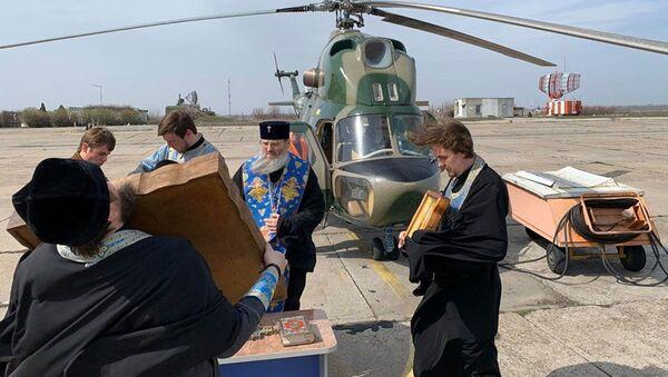 Kapłani szykują się do lotu nad Zaporożem - Sputnik Polska