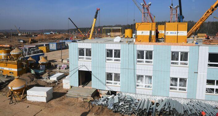 Budowa szpitala zakaźnego w Nowej Moskwie