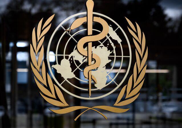 Logo Światowej Organizacji Zdrowia (WHO)