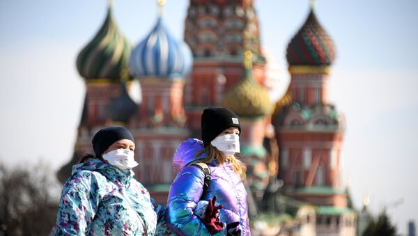 Plac Czerwony podczas epidemii koronawirusa, Moskwa - Sputnik Polska