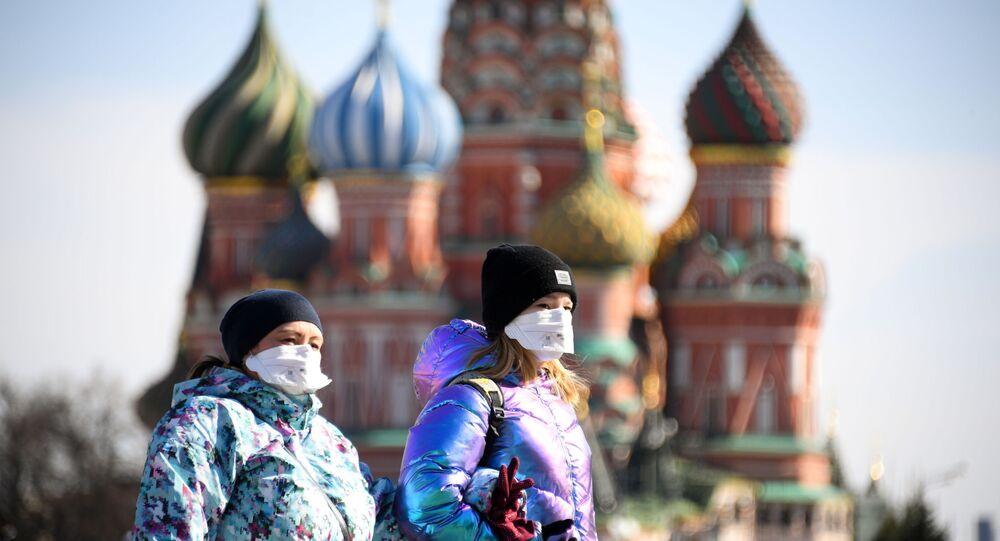 Plac Czerwony podczas epidemii koronawirusa, Moskwa