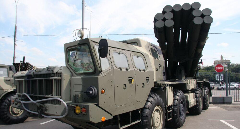 """Wieloprowadnicowy system artylerii rakietowej """"Smiercz"""""""