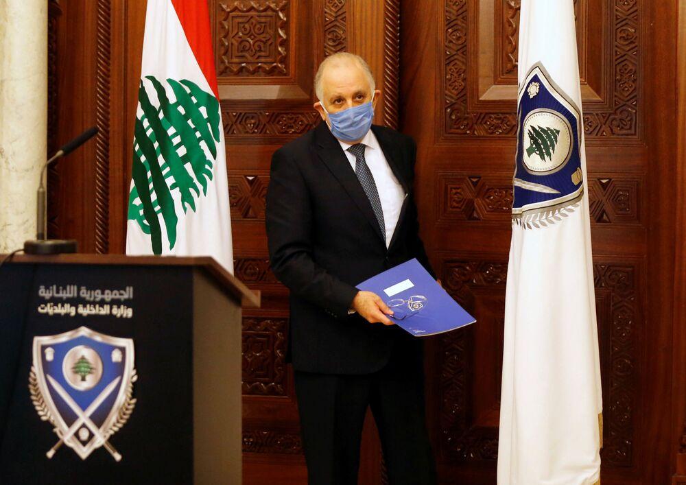 Libański minister spraw wewnętrznych Mohamed Fahmi