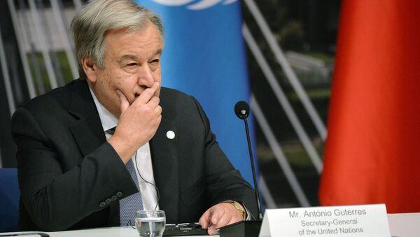 Sekretarz generalny ONZ Antonio Guterres - Sputnik Polska