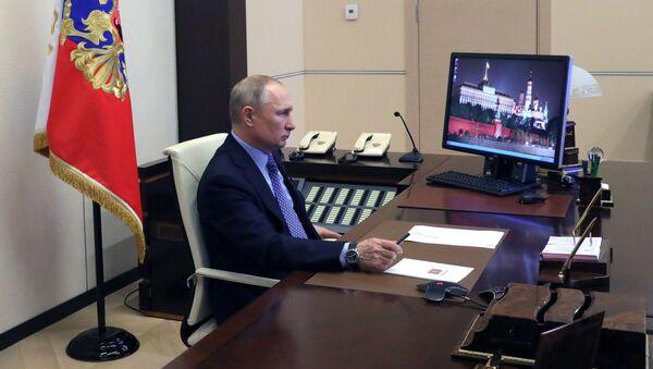 Президент РФ Владимир Путин провел совещание с полпредами в режиме видеоконференции - Sputnik Polska