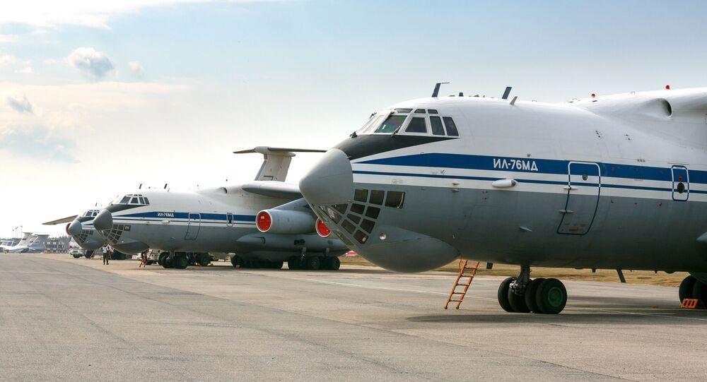 Samolot Ił-76 lotnictwa wojskowo-transportowego Sił Powietrzno-Kosmicznych