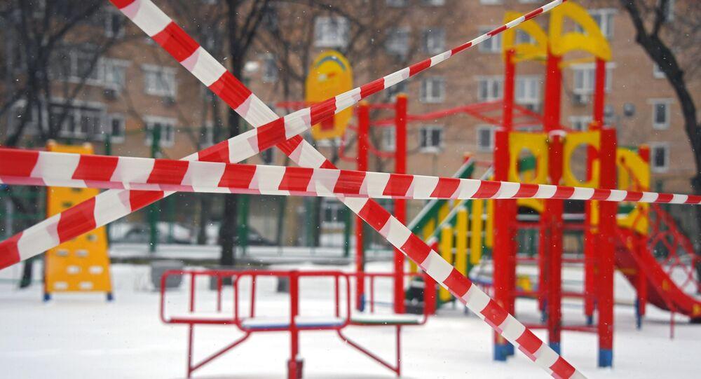 Zamknięty plac zabaw w Moskwie