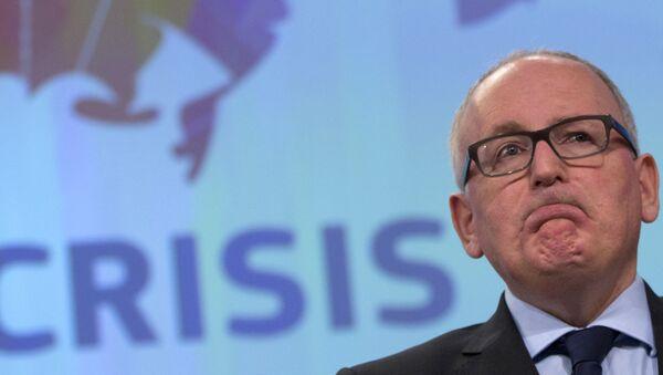Wiceprzewodniczący Komisji Europejskiej Frans Timmermans - Sputnik Polska