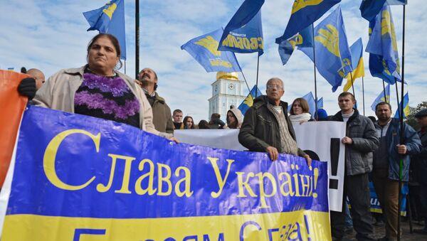 Uczestnicy Marszu bochaterów w Kijowie - Sputnik Polska