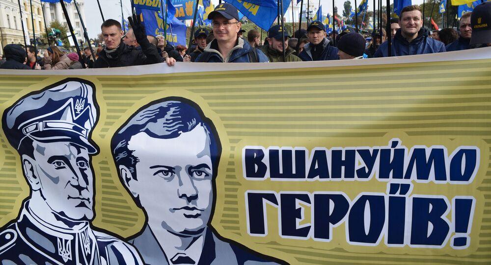 """Uczestnicy """"Marszu bochaterów w Kijowie"""