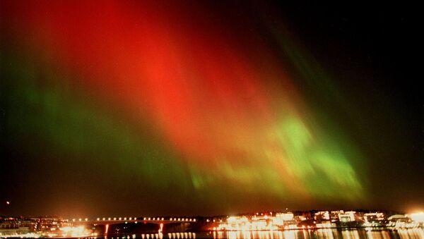 Zorza polarna na niebie nad Sztokholmem - Sputnik Polska