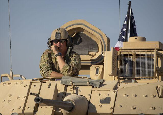 Amerykańscy wojskowi w Syrii. Zdjęcie archiwalne