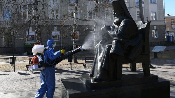 Dezynfekcja w Moskwie - Sputnik Polska