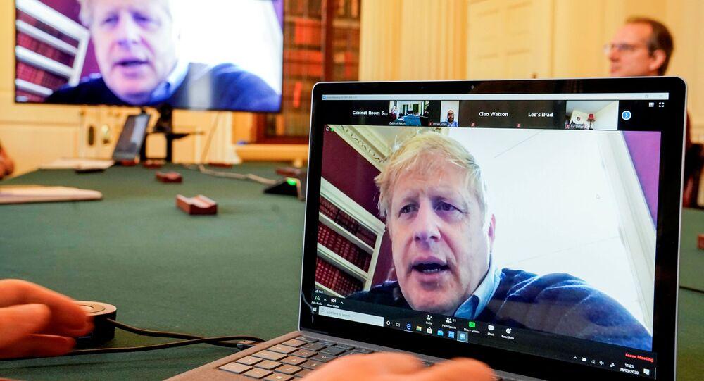 Boris Johnson w czasie kwarantanny