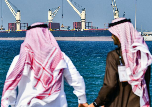 Tankowiec w porcie Ras Al Khair w Arabii Saudyjskiej
