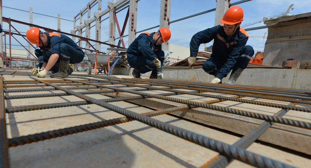 Na budowie białoruskiej elektrowni jądrowej w obwodzie grodzieńskim