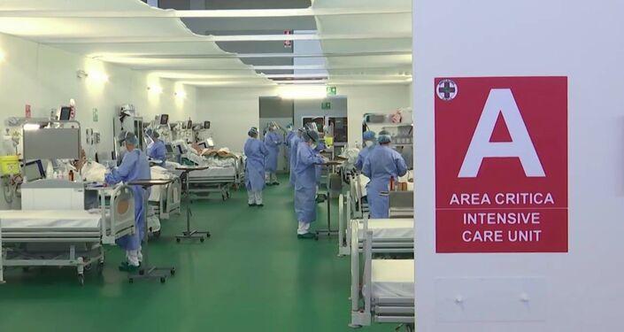 Rosyjscy specjaliści w szpitalu w Bergamo