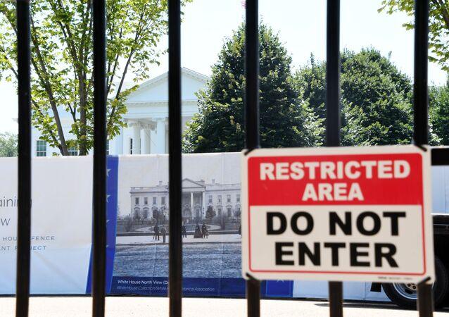 Tabliczka przed Białym Domem