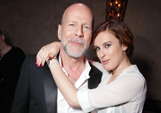 Amerykański aktor Bruce Willis z córką