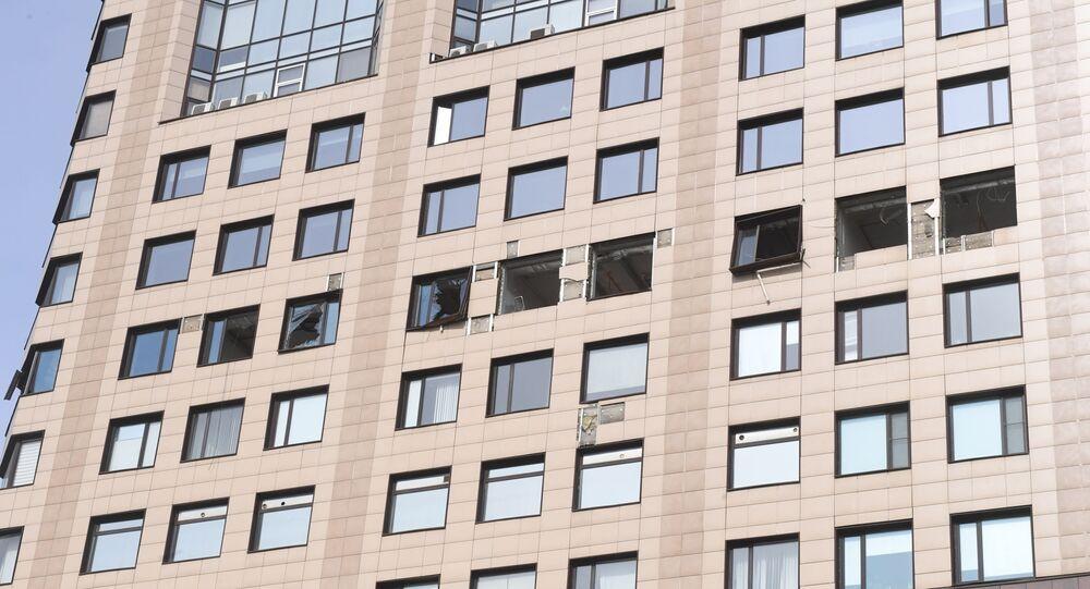 """Wybite szyby w budynku centrum biznesowego """"Panorama"""""""