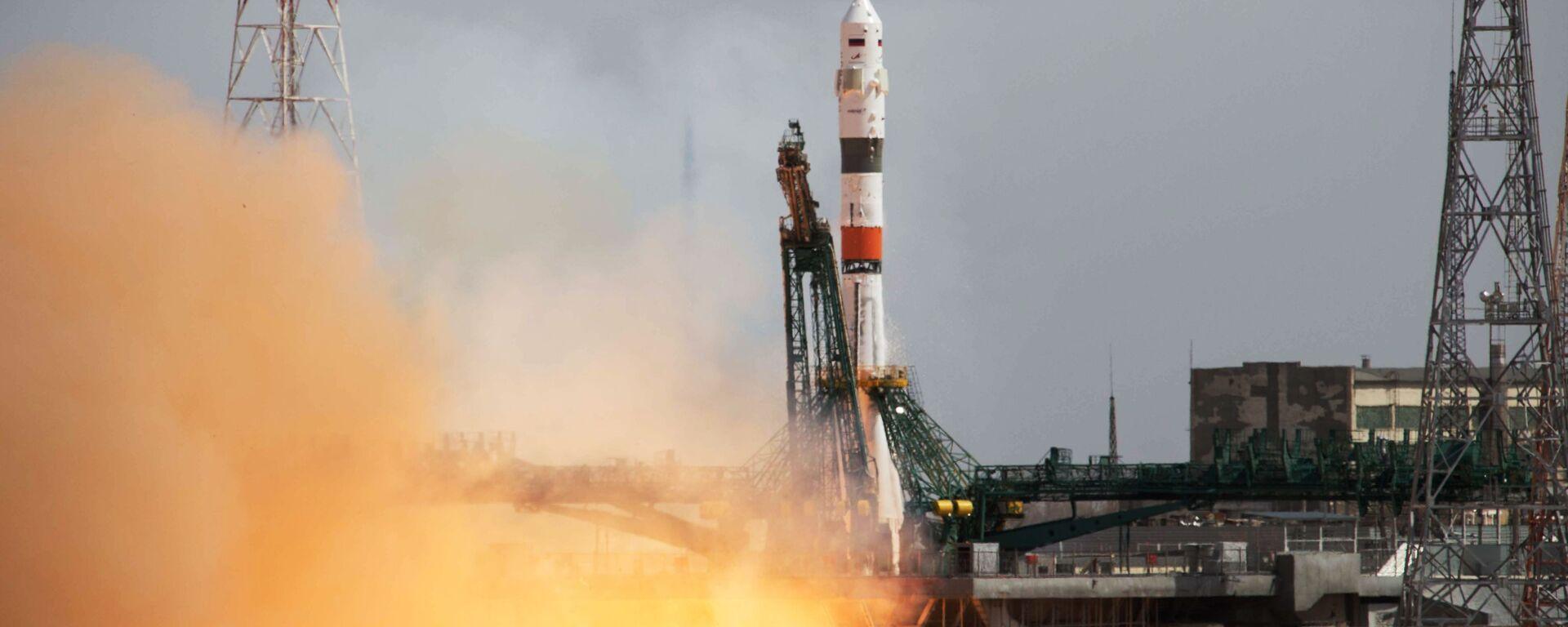 Start rakiety Sojuz-2.1a z kosmodromu Bajkonur - Sputnik Polska, 1920, 09.07.2021