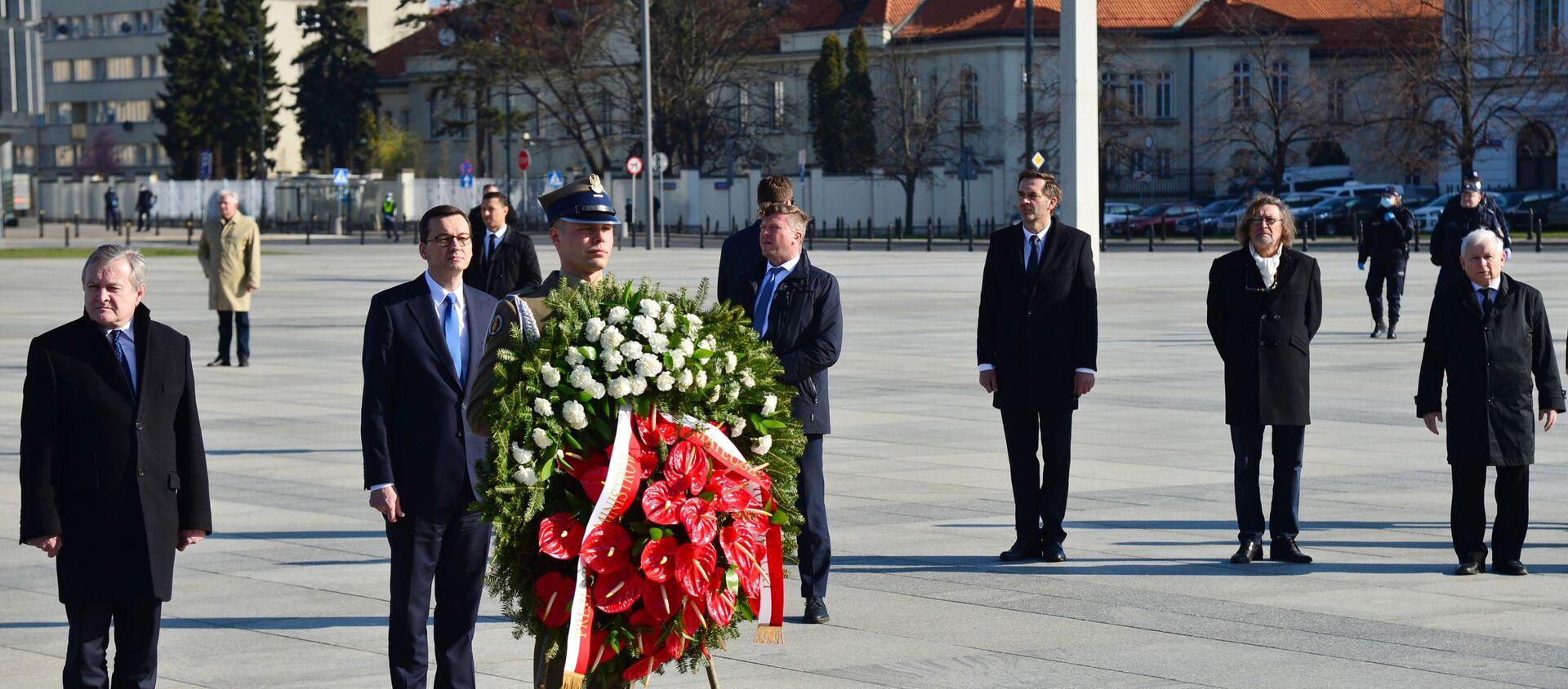 Obchody 10. rocznicy katastrofy pod Smoleńskiem - Sputnik Polska, 1920, 07.04.2021