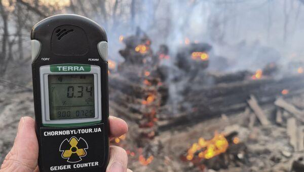 Pożar w Strefie Wykluczenia w Czarnobylu - Sputnik Polska