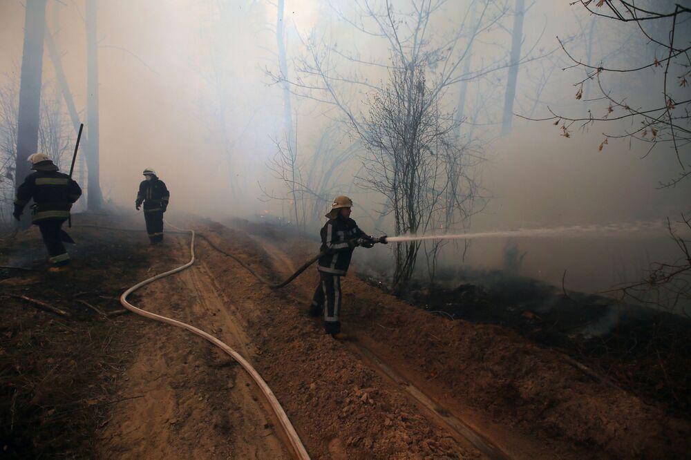 Pożar w Strefie Wykluczenia w Czarnobylu