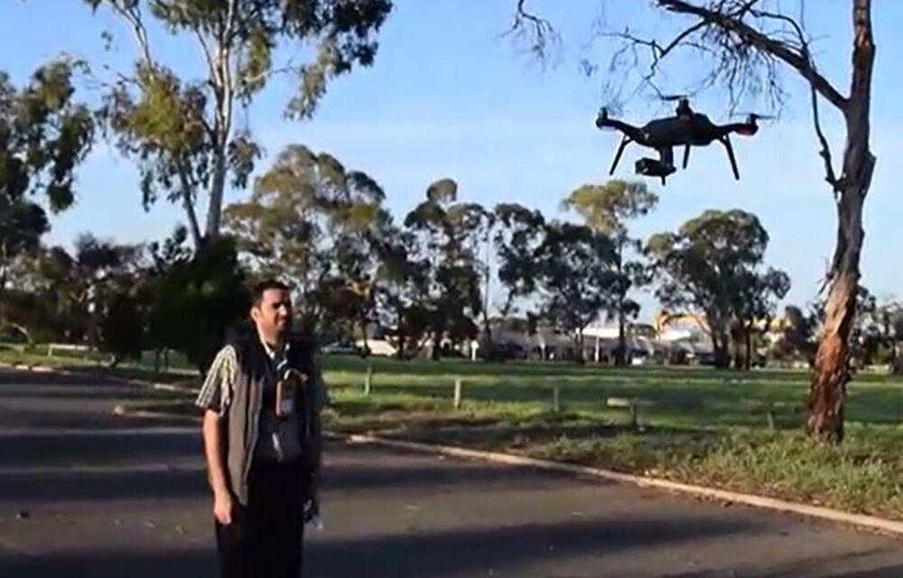 Dron zdolny do wykrywania objawów wirusowych w tłumie.