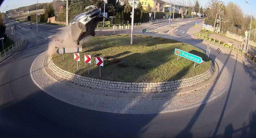 Wypadek samochodowy w Łodzi