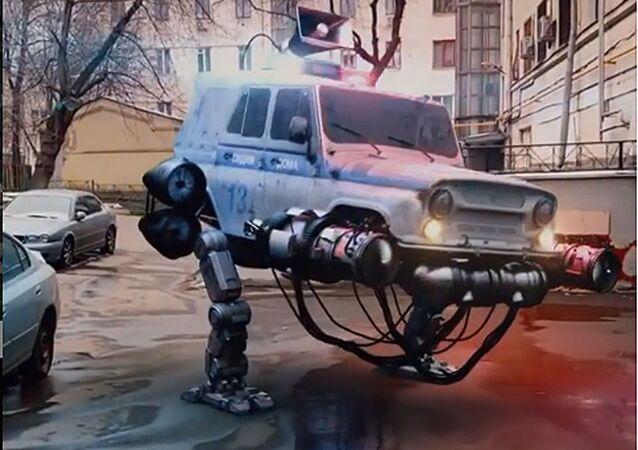 Kadr z futurystycznego filmu studia Knife Studio