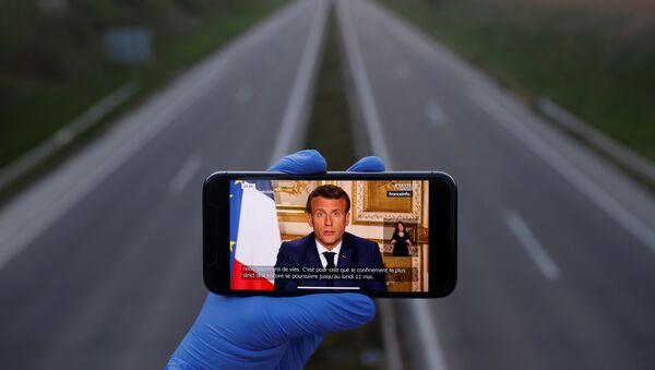 Przemówienie Emmanuela Macrona - Sputnik Polska
