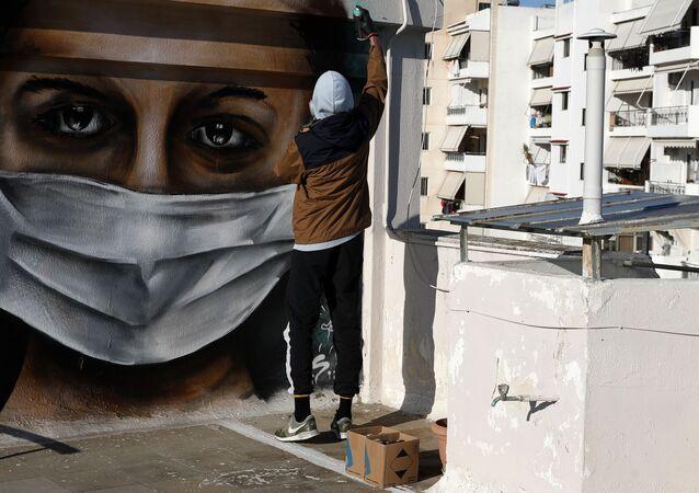 Graffiti, koronawirus