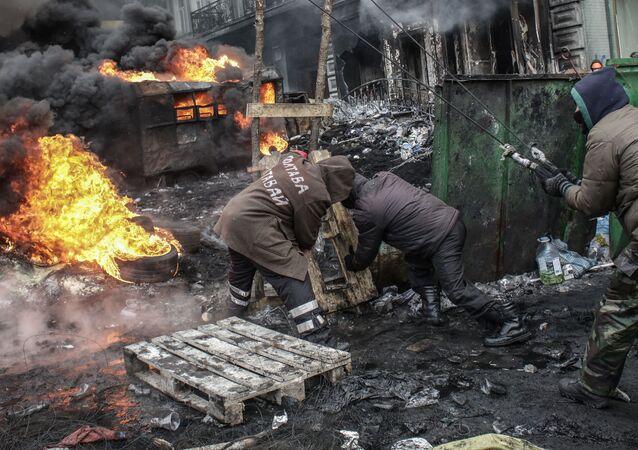 Zamieszki na Ukrainie podczas EuroMajdanu